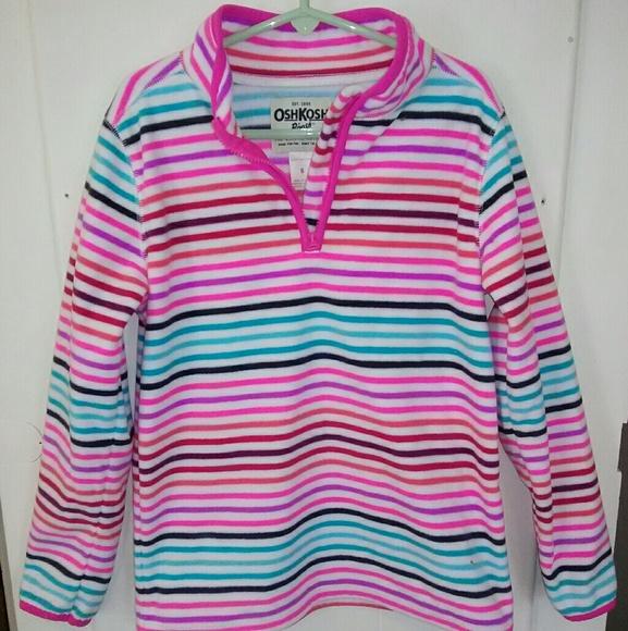BNWT Mini Chic Baby Girls Hooded Fleece Jacket Pink 0-3mths